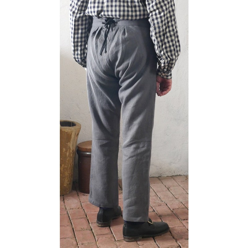 Fall Front Trousers in Linen