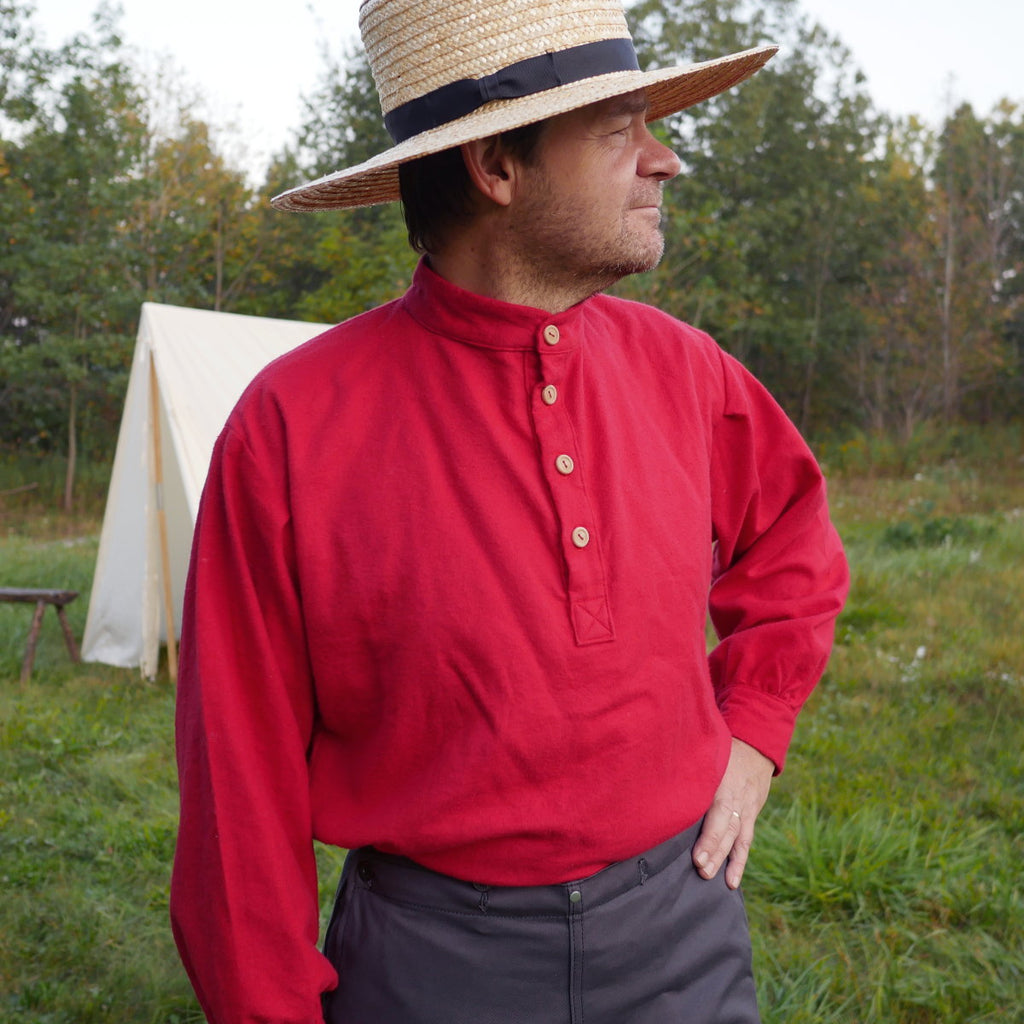 Red Flannel 19th Century Trade Shirt