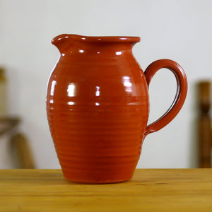 Clear Glazed Redware Pitcher P-4163