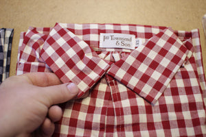 18th Century Workshirt - Red Check Cotton