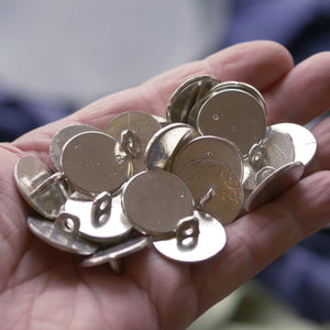 Pack of 25 Large Pewter Buttons 2nds  S-3332