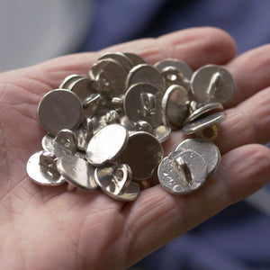 Pack of 25 Small Pewter Buttons 2nds  S-3334