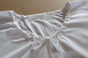 Chemise in Plain White Cotton