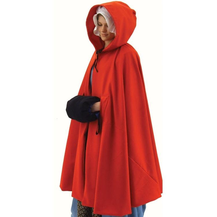 Ladies Red Wool Cloak