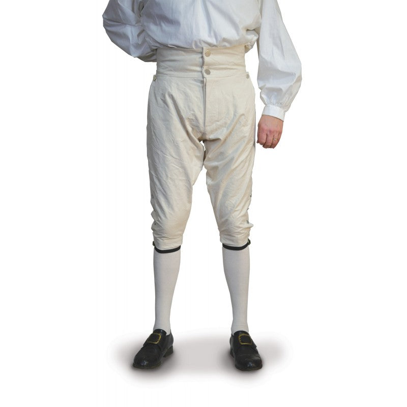 Fly Front Knee Breeches - Linen