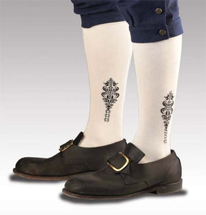 Petite Cotton Clocked Sox-White  S-3205