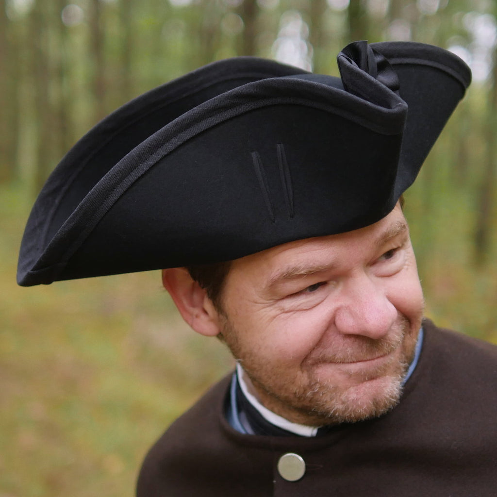Standard Wool Felt Tricorn Black