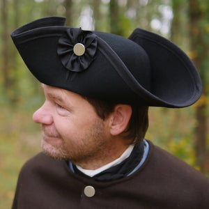 Standard Wool Felt Tricorn Black    TH-905