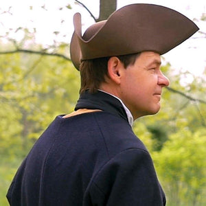 Brown Standard Wool Felt Civilian Tricorn