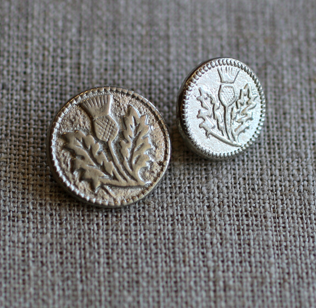 Thistle Button  Pack of Ten