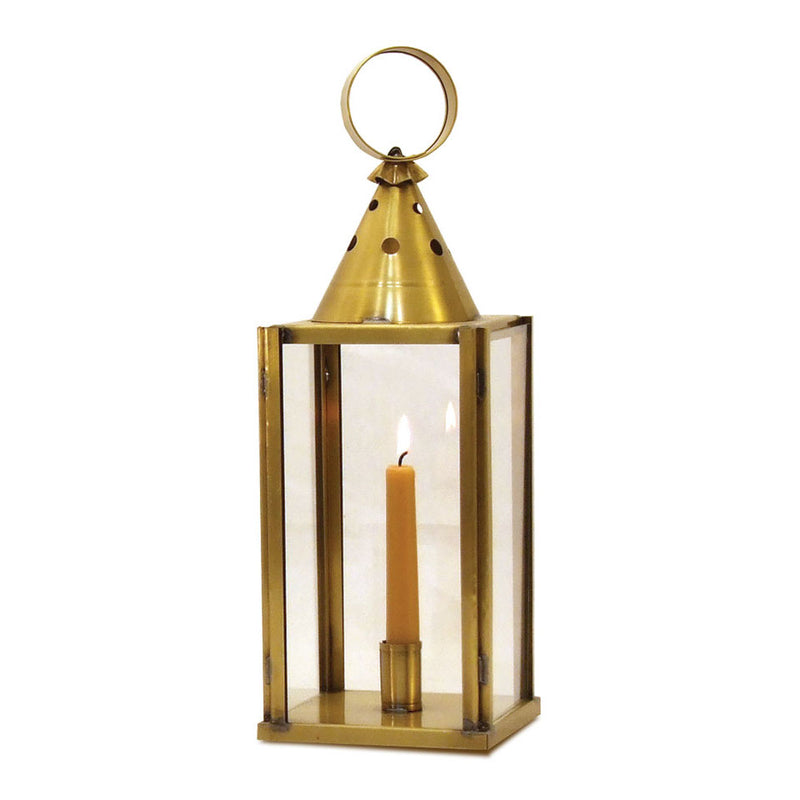 Glass-sided Lantern Brass
