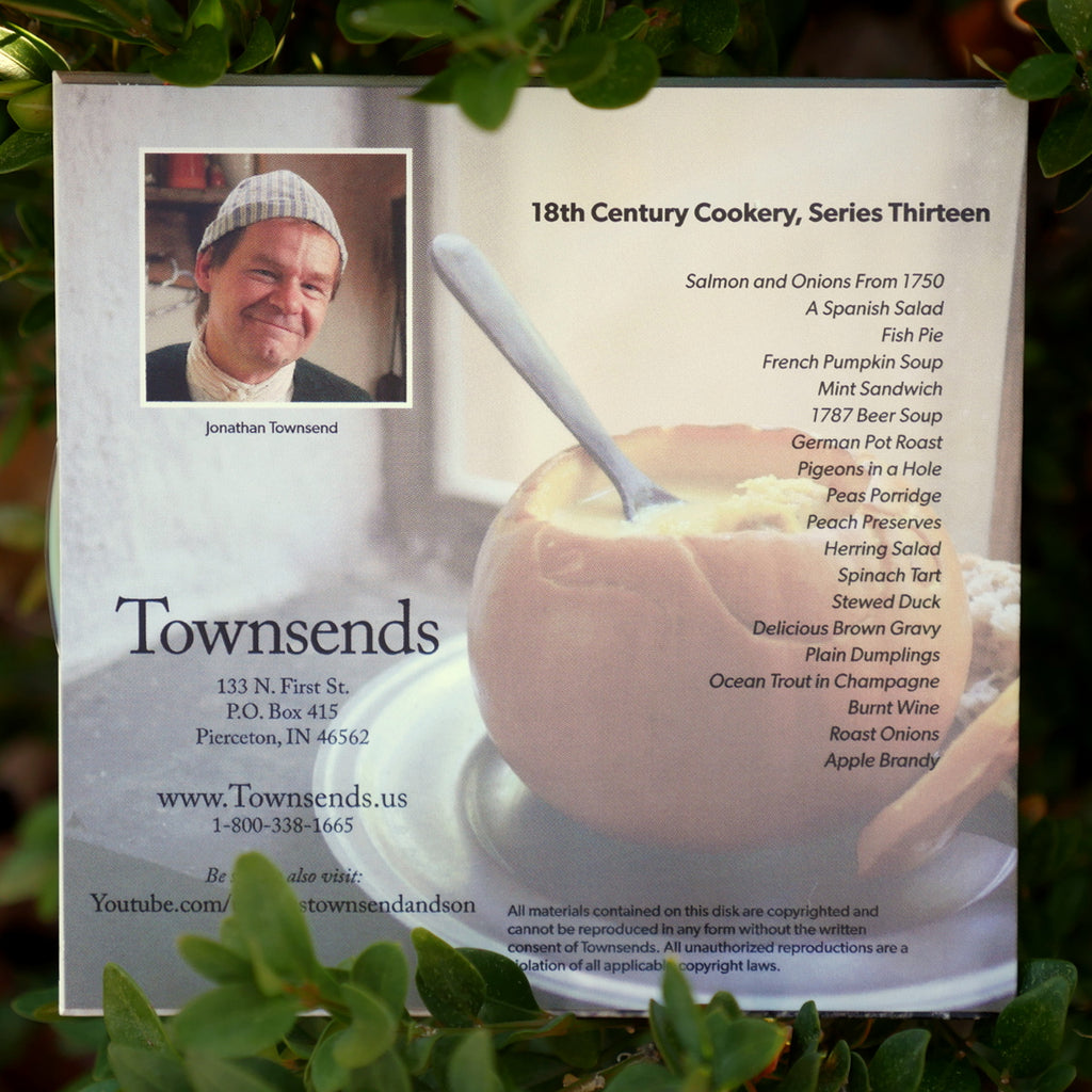 18th Cen. Cookery DVD Series 13