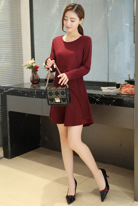 SD 03-04 Women's Elegant Dress Maroon
