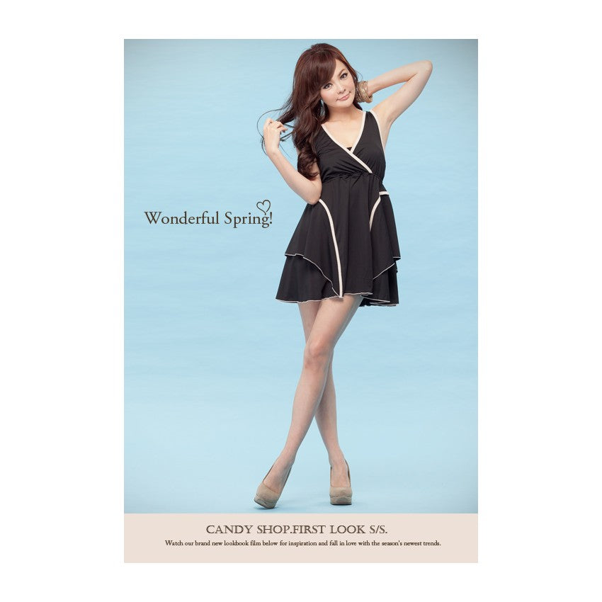 SD71132 - Korea Fashion V Neck Dress