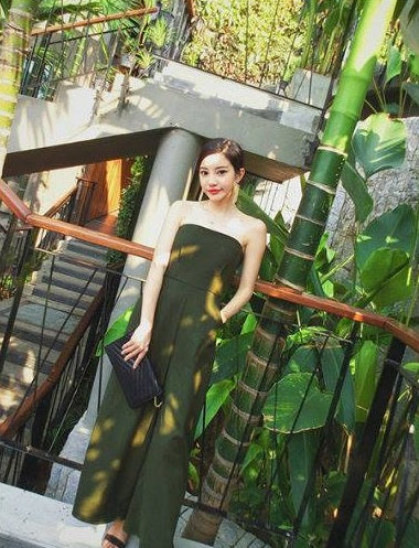 SP12998 Women's Stylish Jumpsuit Green
