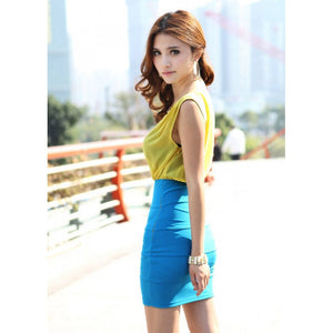 SD96666 - Korea Stylish One Piece Dress