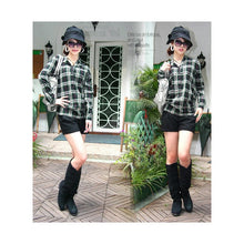 Load image into Gallery viewer, ST29169 - Korea Style Long Sleeve Checker Top