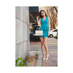 SD99538 - Stylish Peplum Dress