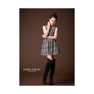 SD91222 - Stylish Checker Dress