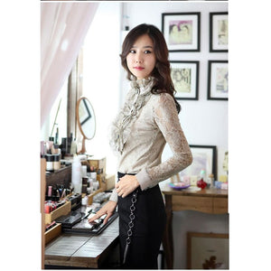 ST9557 - Korea Fashion Lace Top