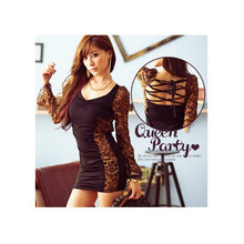Load image into Gallery viewer, SD97621 - Sexy Leopard Long Sleeve Dress