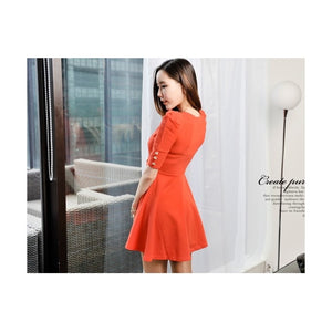 SD99902 - Fashion Puff Sleeve Dress