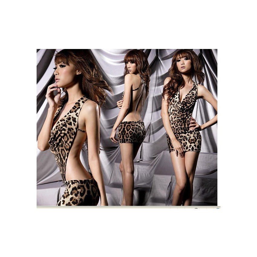 SL660 - Sexy Leopard Lingerie (With G String)