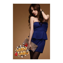 Load image into Gallery viewer, SD62757 - Korea Fashion Peplum Tube Dress
