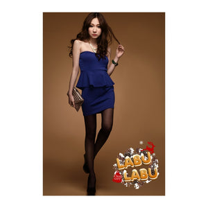 SD62757 - Korea Fashion Peplum Tube Dress