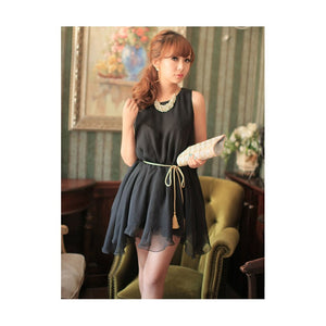 SD213187 - Korea Sweet Chiffon Dress