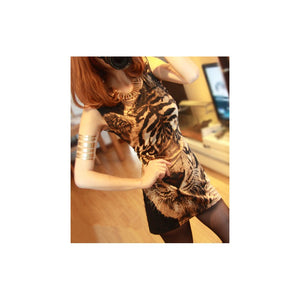 SD97165 - Stylish Tiger Print Dress