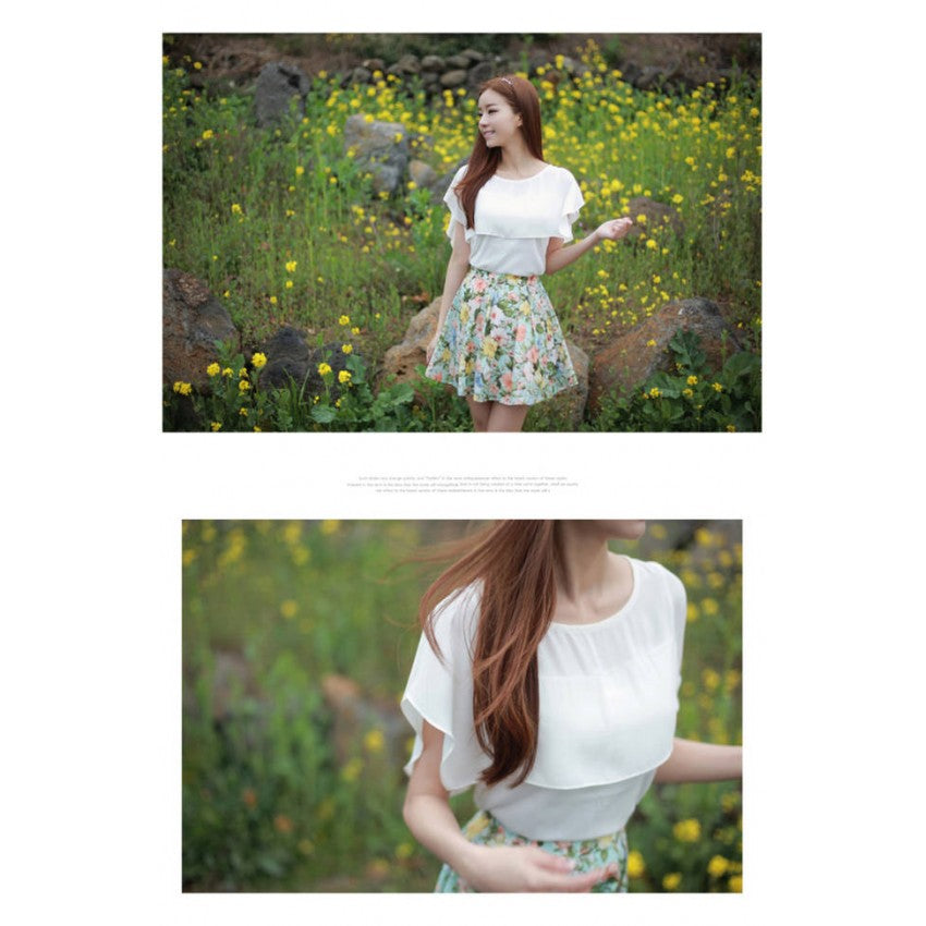 SK70261 - Korea Fashion Flora Skirt