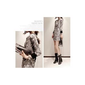 SD91008 - Korea Stylish Long Sleeve Dress