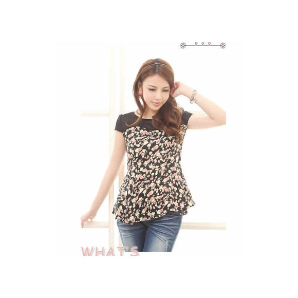 ST91258 - Korea Trendy Flora Top