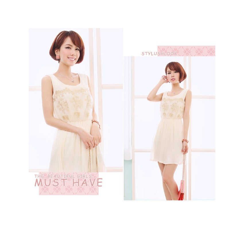 SD98001 - Korea Fashion Chiffon Dress