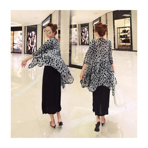 SJ97673 - Korea Stylish Leopard Print Cardigan