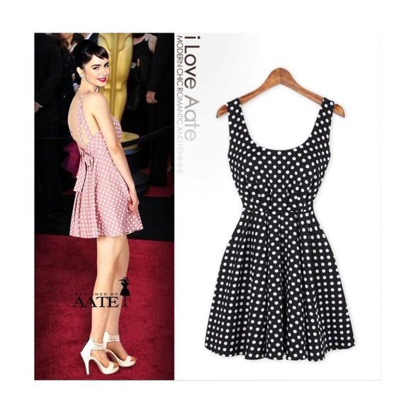 SD93857 - European Summer Polka Dot Dress