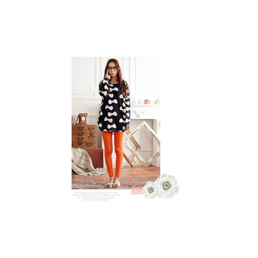 SD75768 - Cute Ribbon Long Sleeve Dress