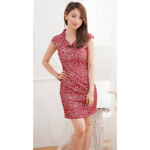 SC59759 - Stylish Lace Cheongsam