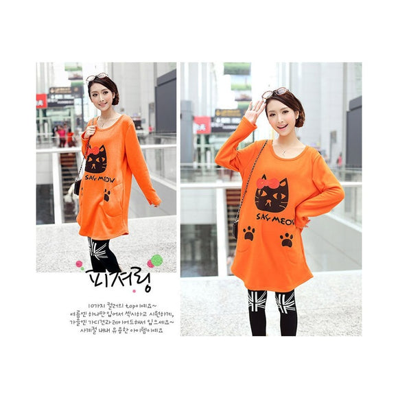 SD96578 - Cute Quality Cat Print Dress