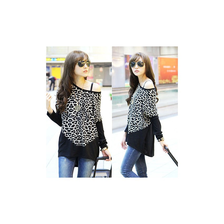 ST216082 - Korea Fashion Leopard Print Top