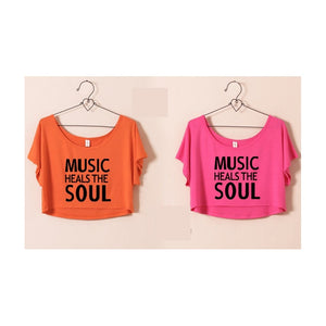 ST63460-3 - Stylish Summer Top (MUSIC HEALS THE SOUL)