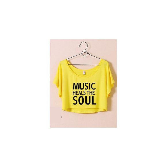 ST63460-4 - Stylish Summer Top (MUSIC HEALS THE SOUL)