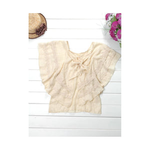 ST26901 - Korea Fashion Butterfly Sleeve Top