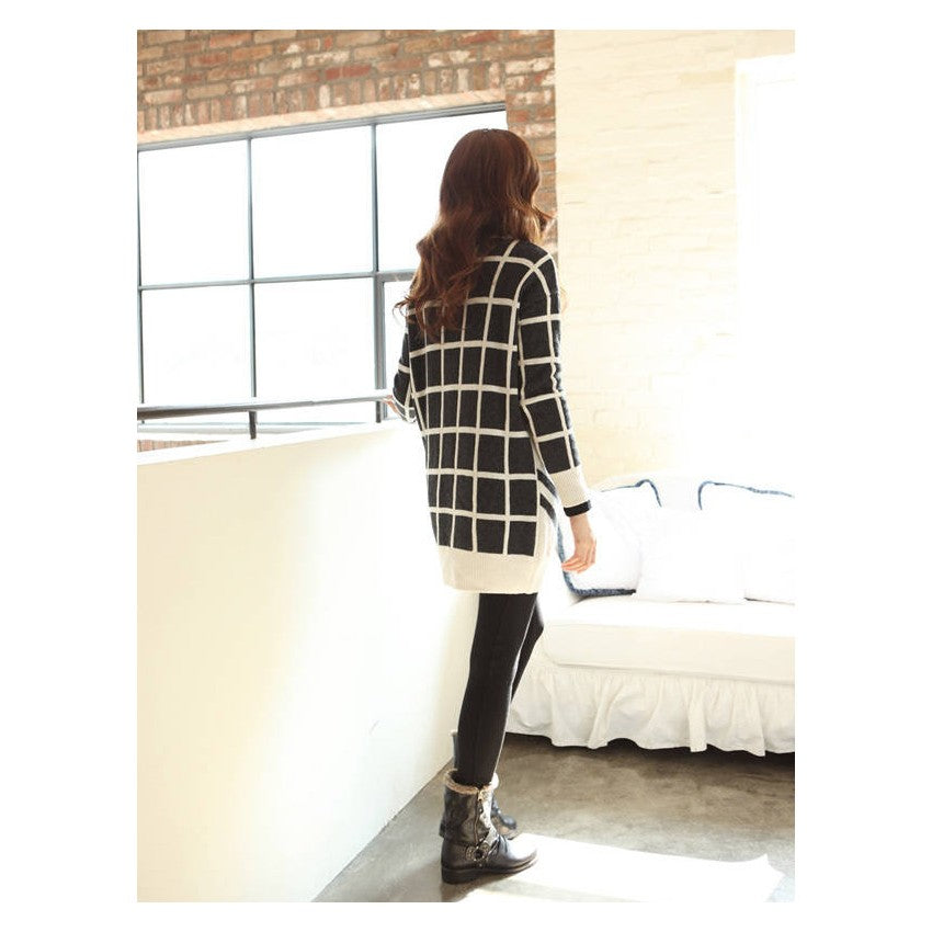 SD216362 - Korea Stylish Knitted Dress