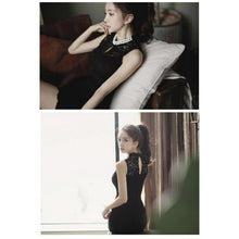 Load image into Gallery viewer, SD99788 - Korea Stylish Elegant Lace Pearl Dress