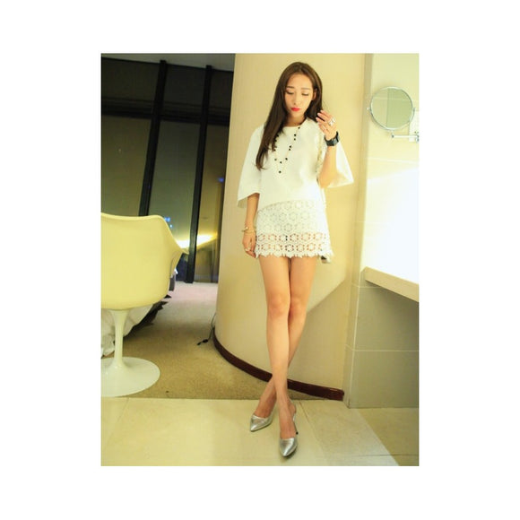 SK75686 - Korea Fashion Lace Skirt