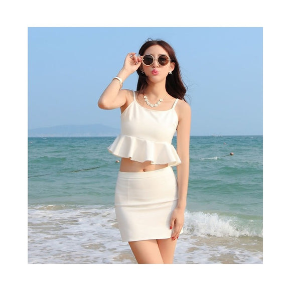SK98008-1 - Korea Summer Two Piece Top&Skirt (1 Set)