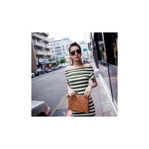 SD217661 - Korea Fashion Stripe Dress