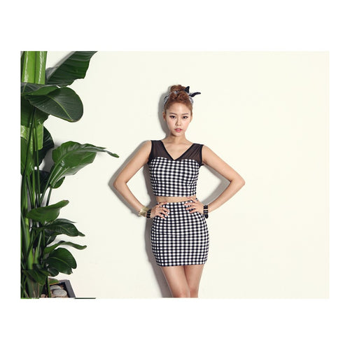 SK97575 - Korea Fashion Top & Skirt (1 Set)